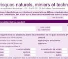 Formulaire Etat des risques naturels et technologuiques